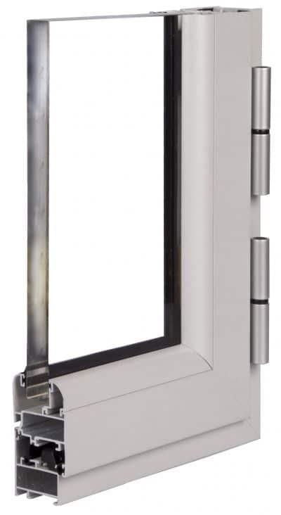 ventana abisagrada de aluminio serie 4000 fria