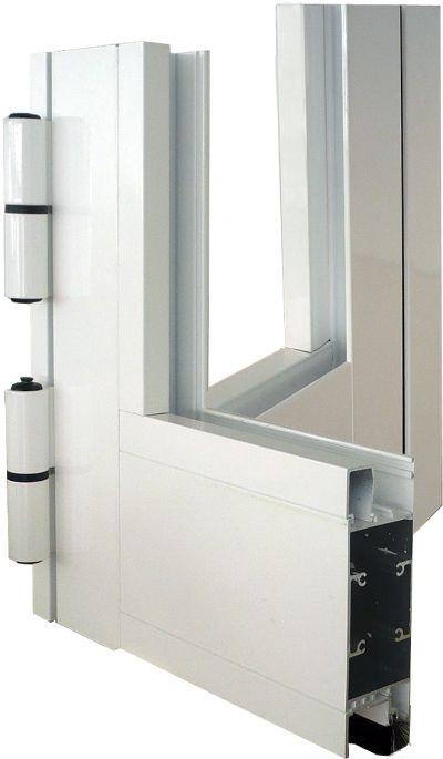 ventana de aluminio abisagrada serie 5600 coplanar