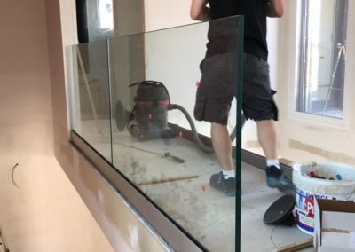 barandilla de vidrio interior