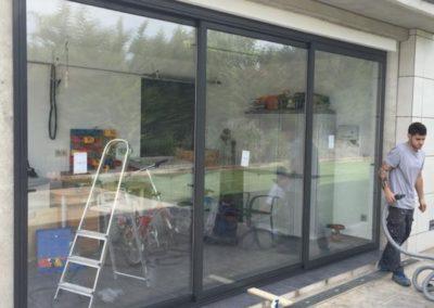 cerramiento deslizante de vidrio