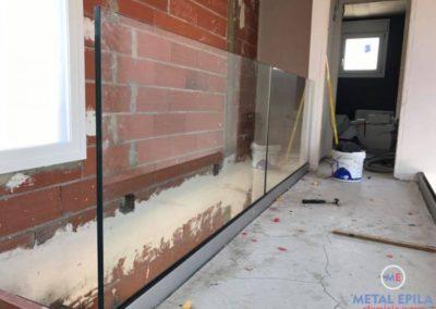 instalacion barandilla de vidrio