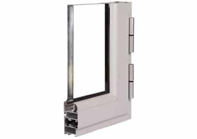 ventana abisagrada aluminio